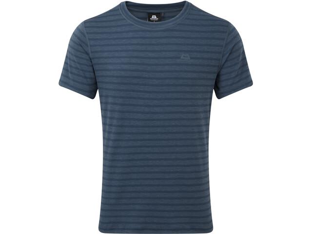 Mountain Equipment Groundup T-paita Miehet, denim blue stripe